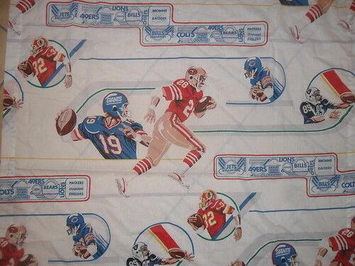 Vtg NFL FOOTBALL CURTAINS Drapes 70's 80's Bears Giants