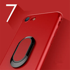 Luxury Magnetic Soft TPU Back Case Cover with Ring Holder Fits Apple iPhone