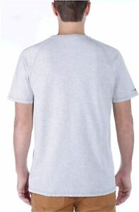 Carhartt-Men-039-s-Force-Cotton-Delmont-Short-Sleeve-T-Shirt-White-Size-Large-Tall