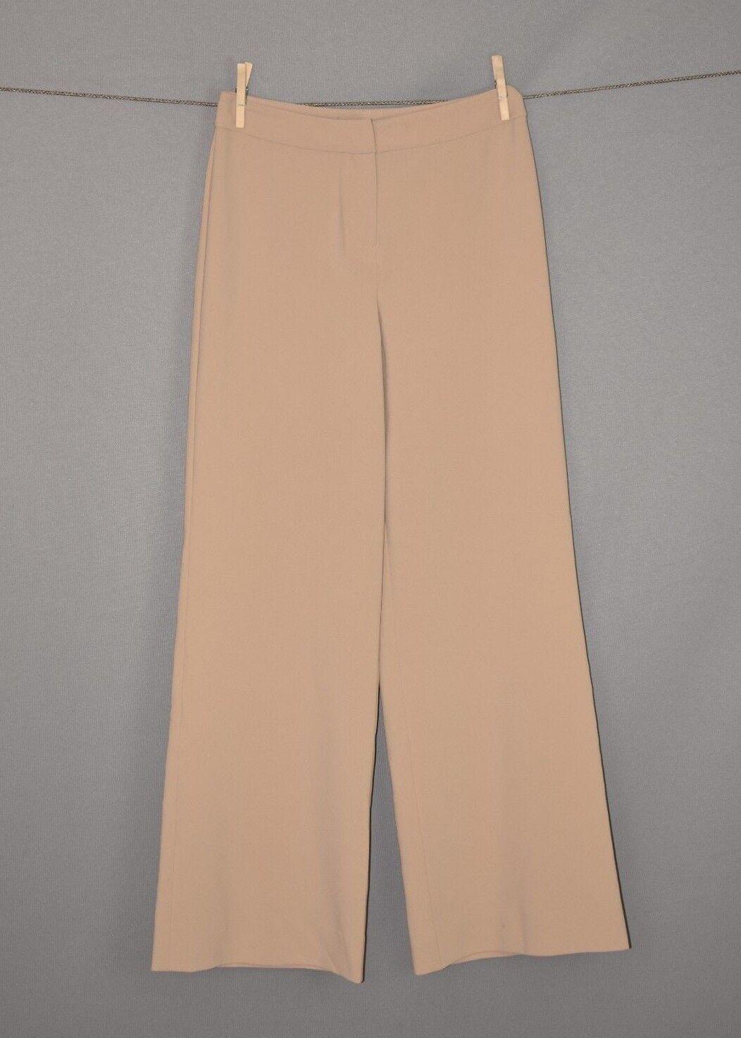 ST. JOHN NEW  Tan Diana Wide Leg Trouser Pants Size 2