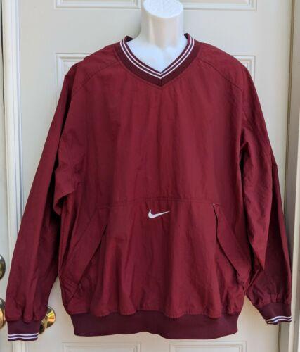 Vintage XL Red Nike Pullover Windbreaker Jacket V