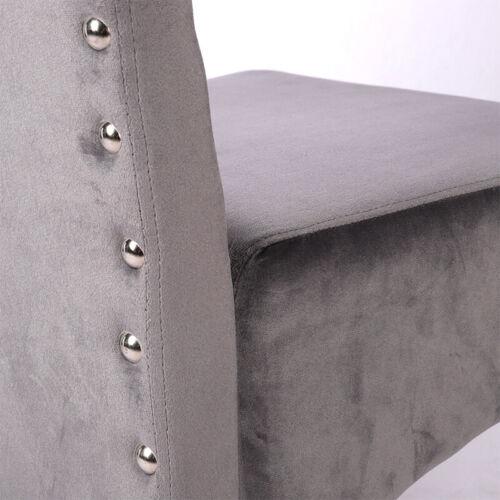 2//4Pcs Dinning Chairs Rivet Edge Decor Chair Hotel Reception Velvet Padded Chair