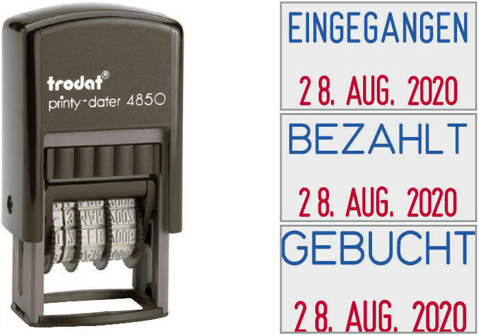 S-300//400 Datumstempel Selbstfärbend Automatik Stempel Printy Dater Mechanischer