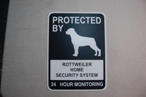 Rottweiler Doberman warning beware owner Guard Attack Dog Humor gate door fence