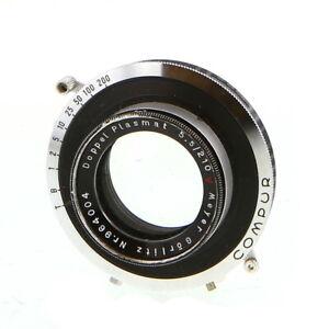 Vintage-Hugo-Meyer-Co-210mm-f-5-5-Doppel-Plasmat-in-Comput-Shutter-UG