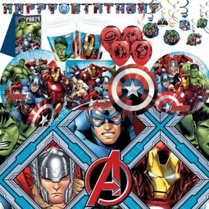 Marvel-Avengers-Party-Supplies-Tableware-Decorations-amp-Balloons