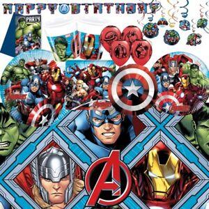 Marvel-Avengers-parti-Fournitures-Vaisselle-Decorations-amp-Ballons