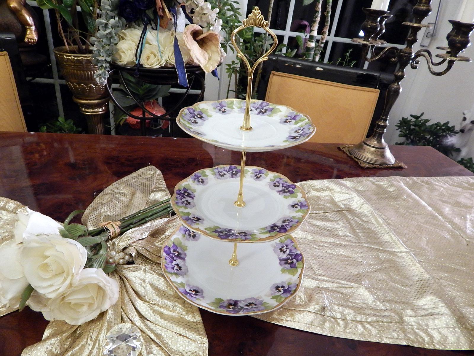 Magnifique etagere table dissertation 3 niveaux rosenthal viktoria Luise très rare