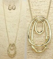 Gold Pendant Fashion Necklace Set