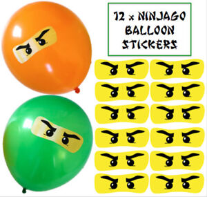 128 x Lego Ninjago Eyes Stickers for Balloons Party Decorations Plates Bags
