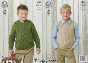 165a742469bd8f Image is loading KING-COLE-4435-BOYS-SWEATER-SLIPOVER-ORIGINAL-KNITTING-