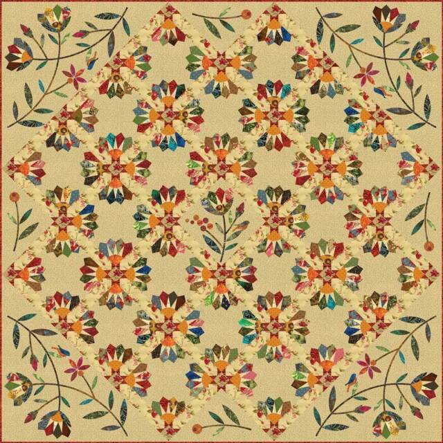 Star Quilt Pattern Templates ~ Edyta Sitar Laundry Basket Quilts Dresden Bloom