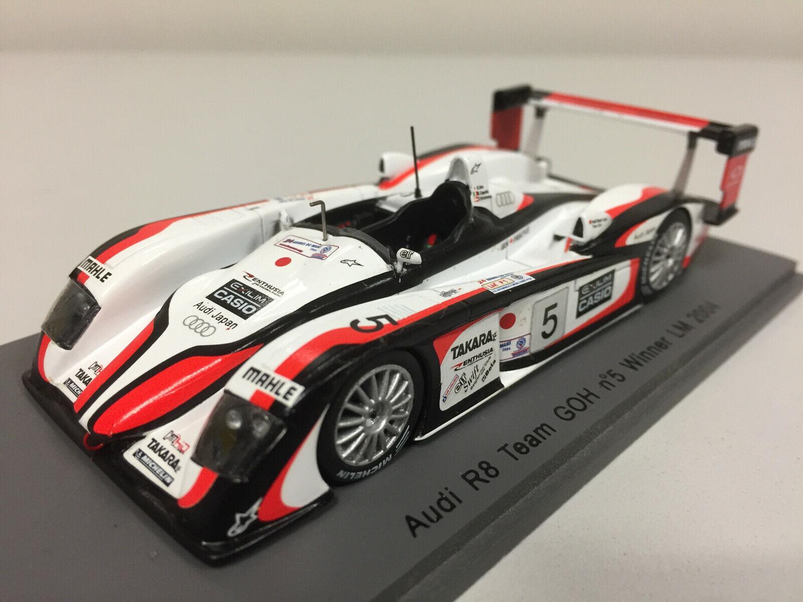 Spark Audi R8 Ream  GOH n°5  Winner 24h du Mans 2004 1 43 43LM04  magasin vente sortie