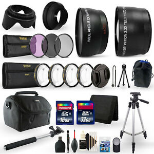 for Canon EOS T7 T7i T100 2000D 3000D 4000D Wide Angle, Telephoto, Fisheye Lens, Filters + Accessories 58mm 3 Lens Kit