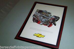 1956 Chevy Corvette 265 2x4 dual quad David Kimble mounted Illustration RARE
