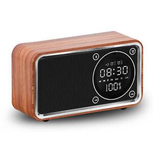 Bluetooth-Multi-Function-Digital-Alarm-Clock-Radio-Led-Display-Wood-Table-Clock