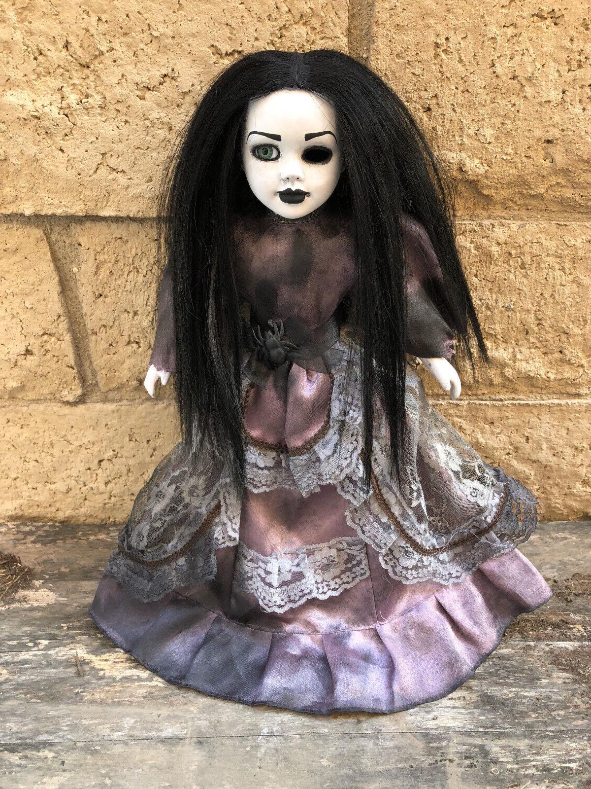 OOAK Sitting Pretty One Eye Creepy Horror Doll Art by Christie Creepydolls