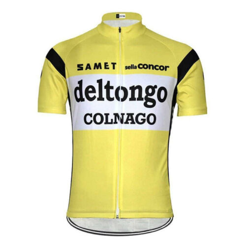1983 Deltongo Colnago Retro Cycling Jersey cycling Short Sleeve Jersey