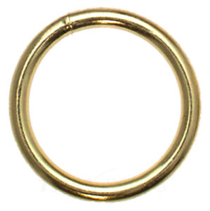 50St D-Ringe 25mm x 18 x 3,4 Stahl Altmessing Halbrund Ring Halbrunde D Ringe