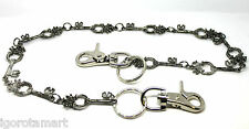 """Cool Men's Hip Hop Trousers Wallet Skeleton Key Link Chain Jean Gothic 29"""" Gift"""