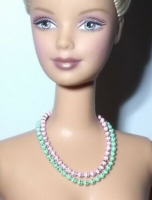 Barbie Dreamz SHINY LIGHT GOLD Graduated Pearl Necklace Set Doll Jewelry