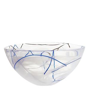 Kosta Boda Serveware White Contrast Bowl, 3 Sizes