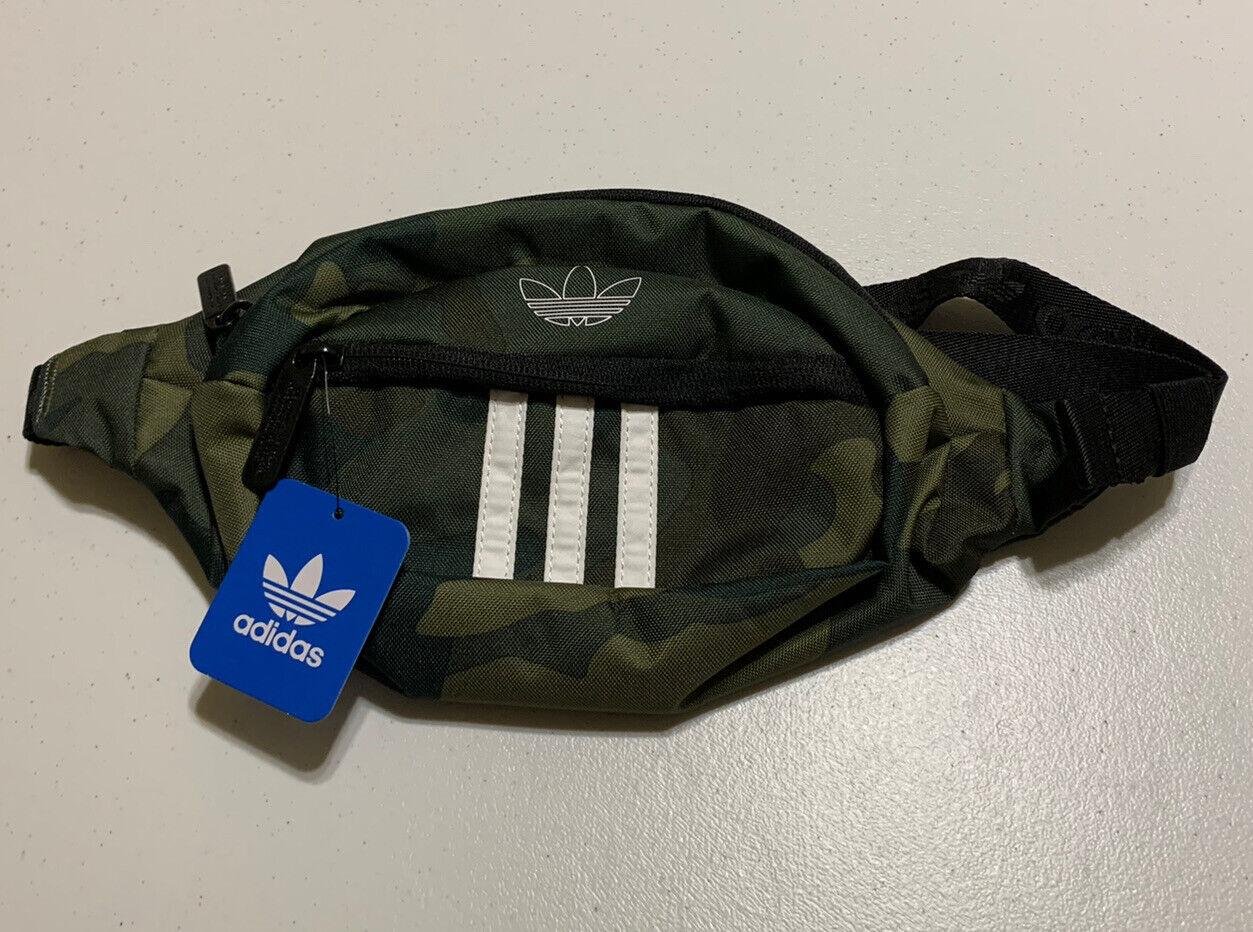 Adidas Originals Mens Camo Trefoil Fanny Cross Body Bag Adjustable One Size NWT