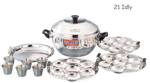 Idly Maker Indian Cooker Stainless Steel 21 Idlis