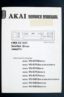 Akai Vs-g740 Vs-g745 Vs-g746 Vs-g755 Original Service-manual/diagram/parts List