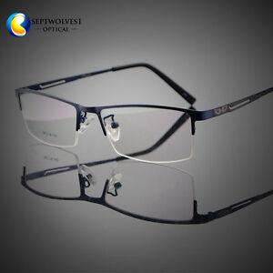 7d9e5d51c31 Image is loading Men-Titanium-Metal-Half-Rimless-Myopia-Eyeglasses-Frames-
