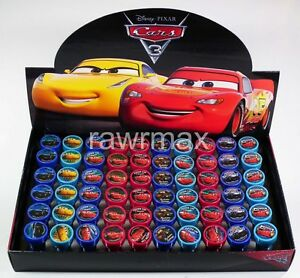 6x 60x Disney Pixar Cars 3 Self Inking Stamps Birthday Party Favors Gift Bags Games
