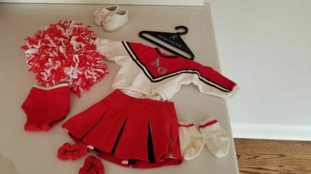 AMERICAN GIRL PLEASANT CO DOLL RED & WHITE CHEERLEADER OUTFIT RETIRED 1996