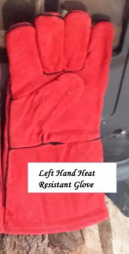 Résistant à La Chaleur Cuir gauche Glove-Woodburner/Feu/cuisinière/Chiminea/BBQ