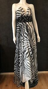 54991cfe31 Forever Unique Zebra Maxi dress - Uk 8 Style Connie New With Tags ...