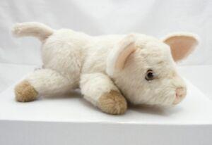 Aux-Nations-peluche-porcelet-realiste-fourrure-beige-rose-24-cm-environ