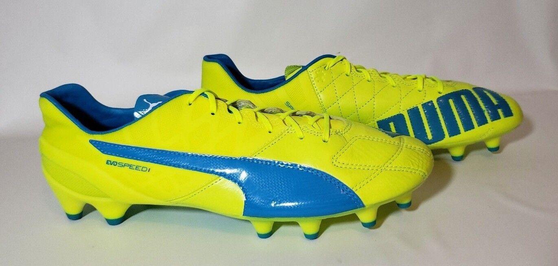 Puma Evospeed 1.4 FG Cuero Hombre Botines De Fútbol Azul 103615 voltios 03 precio minorista sugerido por el fabricante