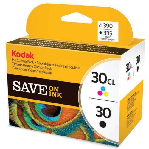 Original OEM Kodak 30//30B Schwarz /& 30CL Farbe Drucker Tintenpatrone Multipack