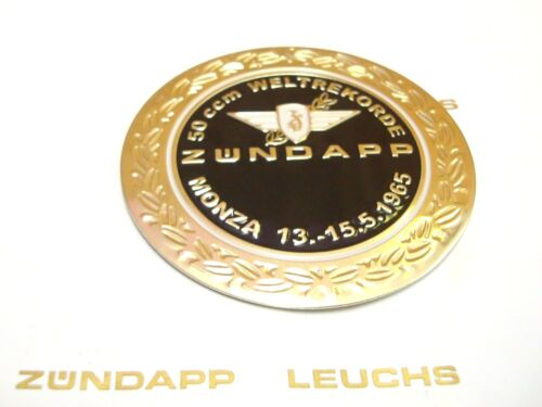 1 x Zündapp Monza Plakette in Schwarz Selbstklebend 64mm KS 50 Super Sport 517