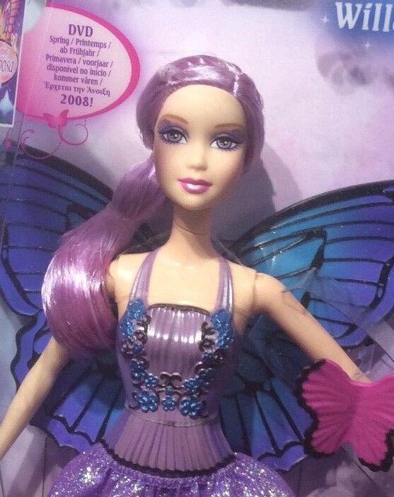 2008 Mariposa Magic Wings Willa Barbie doll NRFB Fairy
