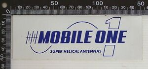 VINTAGE-MOBILE-ONE-CB-RADIO-SUPER-HELICAL-ANTENNAS-POS-ADVERTISING-PROMO-STICKER