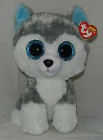 Ty Beanie Boos Slush The Siberian Husky Dog Medium Buddy 9 Size