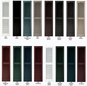 Image Is Loading Vinyl Shutters Cathedral Louver Exterior 64 034 72