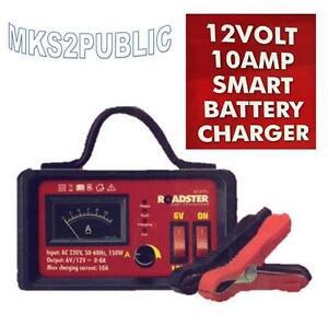 10AMP 6V/12V SMART BATTERY CHARGER INTELLIGENT TRICKLE FAST BATTERY CHARGER 499C