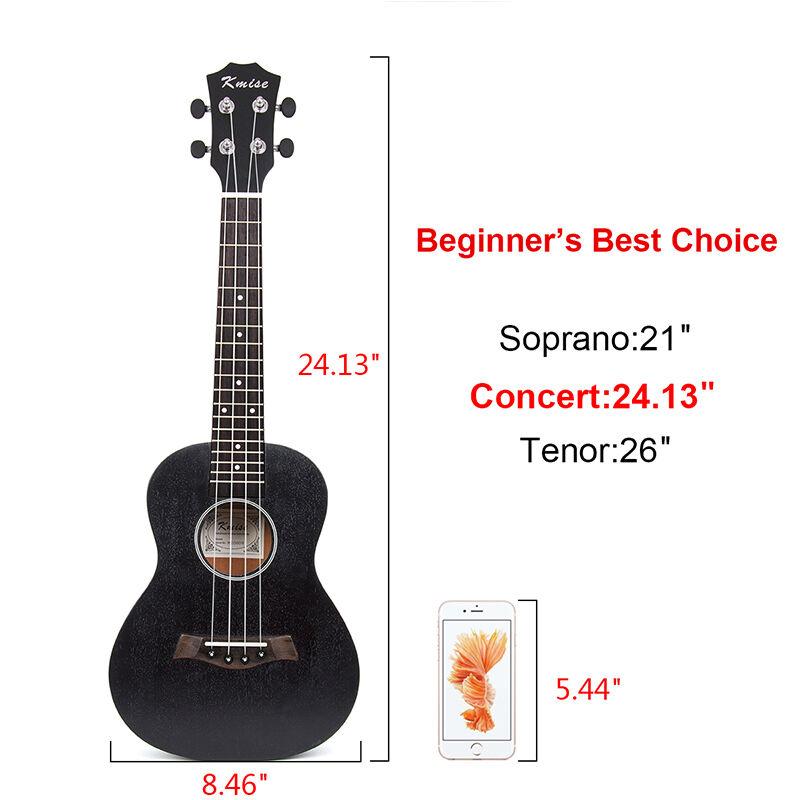 Kmise Profesional 23 pulgadas Ukelele de concierto guitarra guitarra guitarra acústica de Hawaii Sapele Con Bolsa 453add