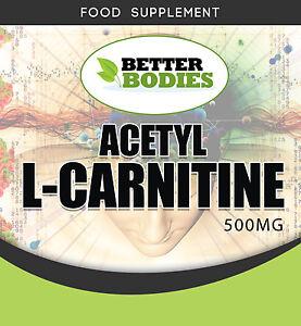 Acetil-L-Carnitina-1500mg-per-porzione-ad-alta-resistenza-guadagno-muscolare-perdita-di-peso-UK