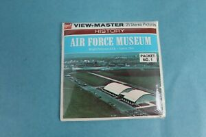 VINTAGE VIEW-MASTER 3D REEL PACKET A600 AIR FORCE MUSEUM SEALED