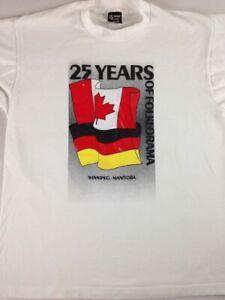 Folklorama T-Shirt VTG 25 Years Adult SZ M/L Winnipeg Manitoba Canada 90s BASF