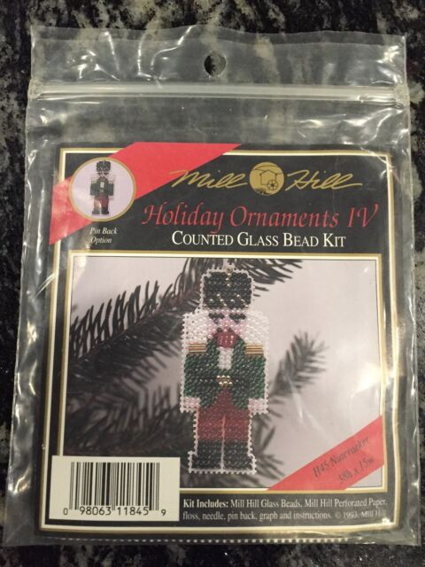Mill Hill Winter Holiday Ornament 1993 Nutcracker Counted Glass Bead Kit Vintage