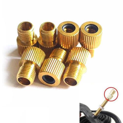 2x Mountain Bike Bicycle Wheel Tyre Valve Adaptor Presta Schrader Air Pump Tool