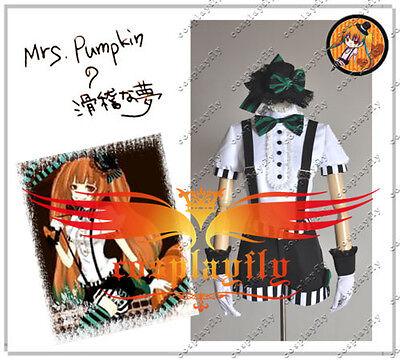 Vocaloid Miku Mrs Pumpkin Halloween Cosplay Costume Custom Size